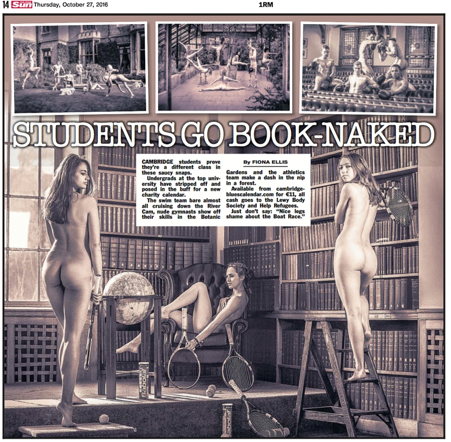 Sexy Students Strip for Calendar