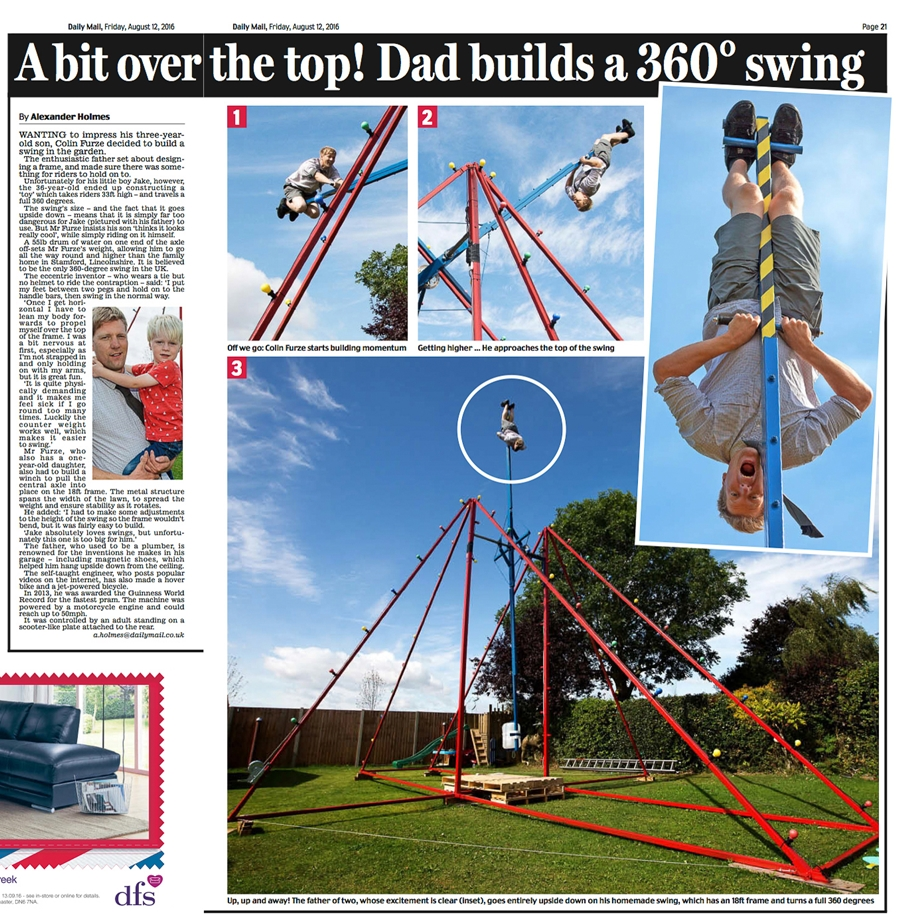 Man Builds 360 Degree Swing