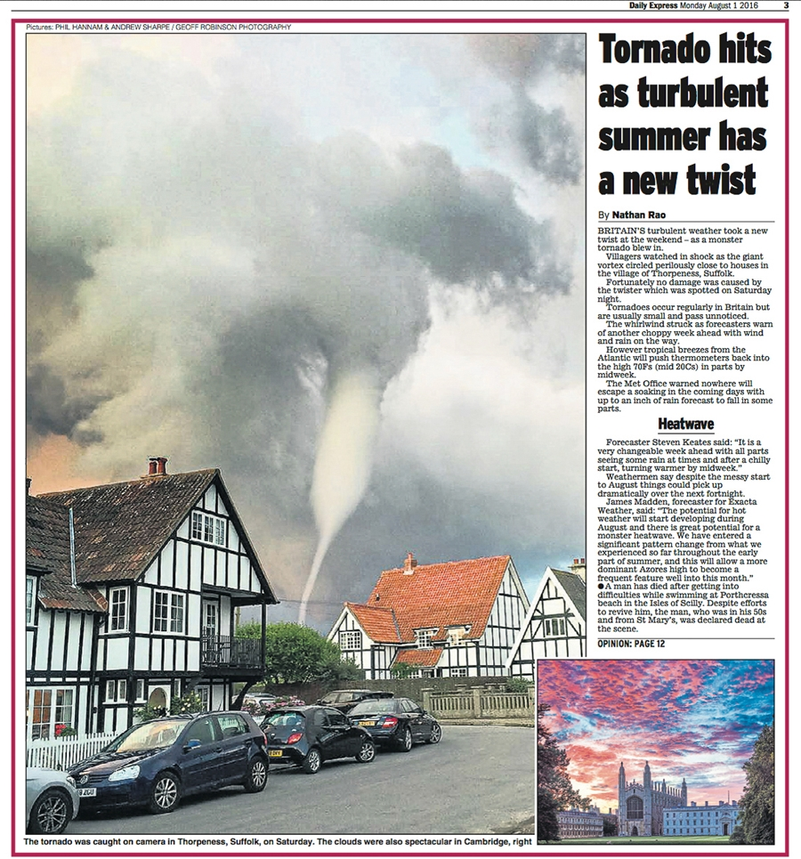 Tornado Over Suffolk